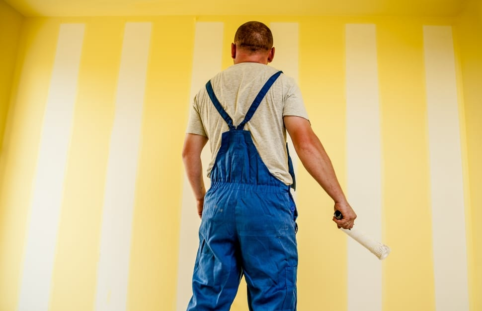 building painter painting strips wallpaper preview